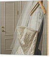 Wedding Dress Wood Print