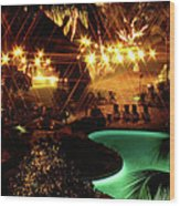 Wedding Night In Hawai'i Wood Print