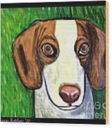 Wee Beagle Wood Print