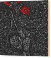 Weep Of A Rose  Wood Print