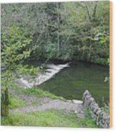 Weir Below Lover's Leap - Dovedale Wood Print