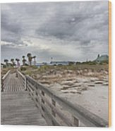 Welcome To Bald Head Island Wood Print