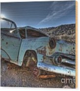 Welcome To Death Valley Wood Print by Bob Christopher
