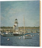 Welcome To Nantucket Wood Print