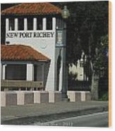 Welcome To New Port Richey Florida  Wood Print