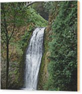 Well Placed Waterfall Wood Print