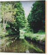 Welsh Canal Dream Wood Print