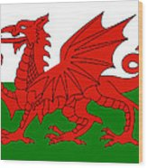 Welsh National Flag Wood Print