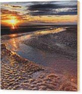 Welsh Sunset Wood Print
