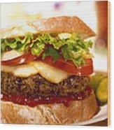 Wendy's Burger Wood Print