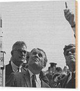 Wernher Von Braun Explains The Saturn Wood Print