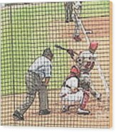 Werth Swings For Phillies Wood Print