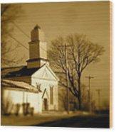 West Barre Church Wood Print
