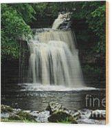 West Burton Falls In Wensleydale Wood Print