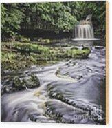 West Burton Falls Yorkshire Dales Uk Wood Print