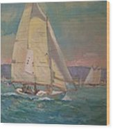 West Coast Sailing Wood Print
