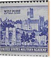 West Point Postage Stamp Wood Print
