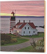 West Quoddy Head Lighthouse Wood Print