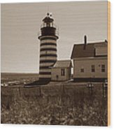 West Quoddy Lighthouse Wood Print by Skip Willits