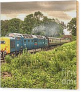 West Somerset Deltic Wood Print