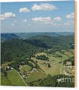 West Virginia Aerial  Wood Print