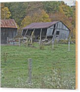 West Virginia Barn 3211 Wood Print