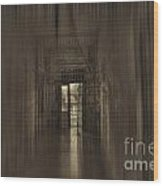 West Virginia Penitentiary Hallway Out Wood Print