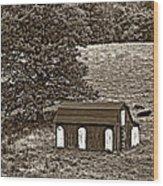 West Virginia Sepia Wood Print