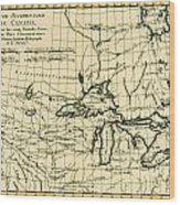 Western Canada And The Five Great Lakes Wood Print