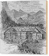 Western Fort, 19th Century Wood Print