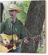 Western Guitar Wood Print