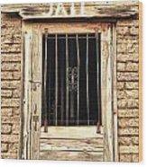 Western Jail House Door Wood Print
