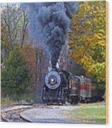 Western Maryland Steam Train Wood Print