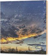 Western Skies  Wood Print