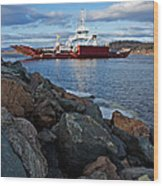 Westfield Ferry Wood Print