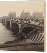 Westminster Bridge - London - C 1887 Wood Print