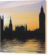 Westminster Silhouette Wood Print
