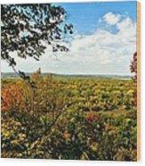 Weston Bend Fall Colors Wood Print