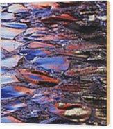 Wet Cobblestone Road Wood Print