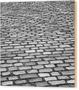 Wet Cobblestoned Huntly Street In The Union Street Area Of Aberdeen Scotland Uk Wood Print