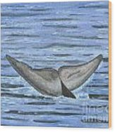 Whale's Tail Wood Print