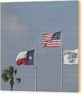 Whataburger Field Flags Wood Print