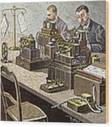 Wheatstone Telegraph System Wood Print by Sheila Terry