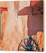 Wheel And Ice Wood Print