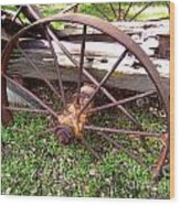 Wheel In Time Photograph Wood Print