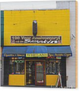 Whelans Smoke Shop On Bancroft Way In Berkeley California  . 7d10170 Wood Print