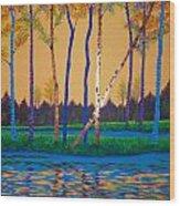 When Autumn Leaves Wood Print