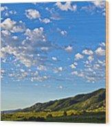 When Clouds Meet Mountains 2 Wood Print