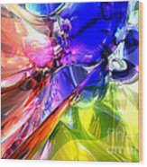 When Rainbows Collide Wood Print