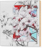 When The Almond Trees Are In Blossom  Wood Print
